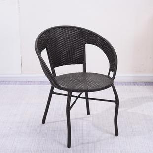 阳台小藤椅子单人扶手靠背椅编织家用老人庭院单个休闲户外藤编椅