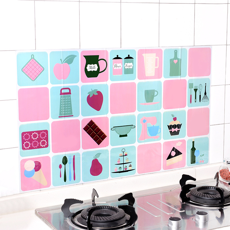油烟机墙贴壁纸厨房防油贴纸耐高温2.90元包邮