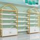 化妆品展示柜美容院护肤产品展柜精品陈列架柜货架展示架现代简约