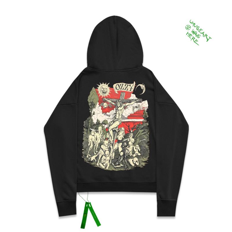 欧美摇滚黑色安息日BLACK SABBATH乐队Ozzy Osbourne带帽卫衣男潮
