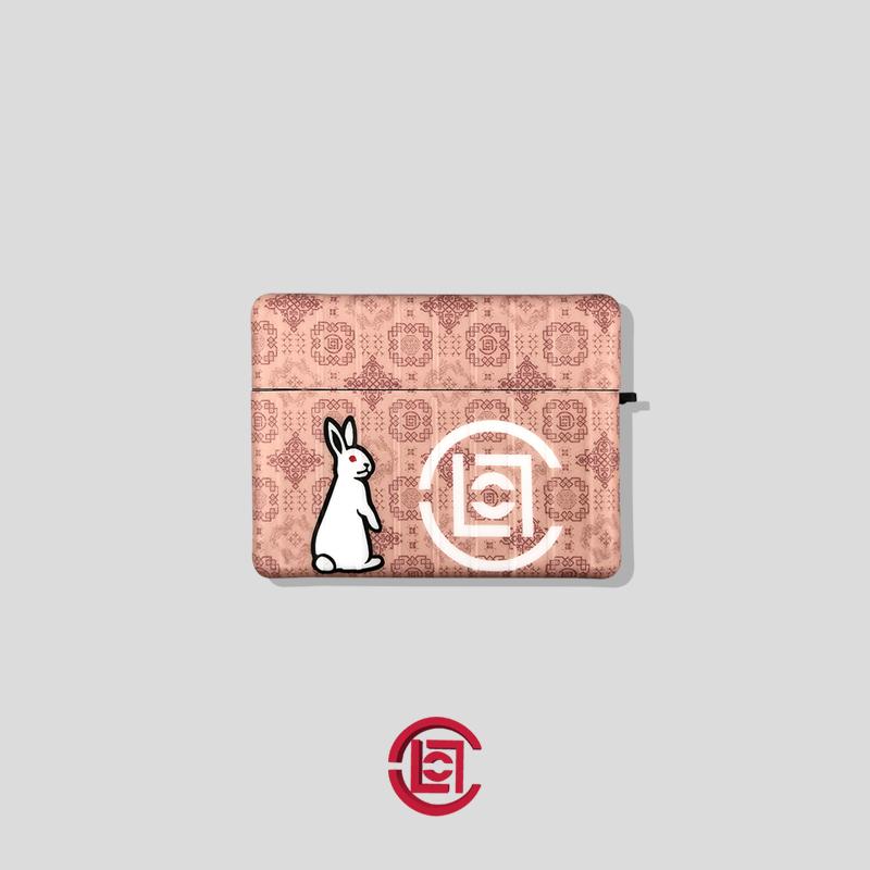 兔子适用苹果蓝牙耳机保护套Pro陈冠希airpods2丝绸软壳3代无线盒