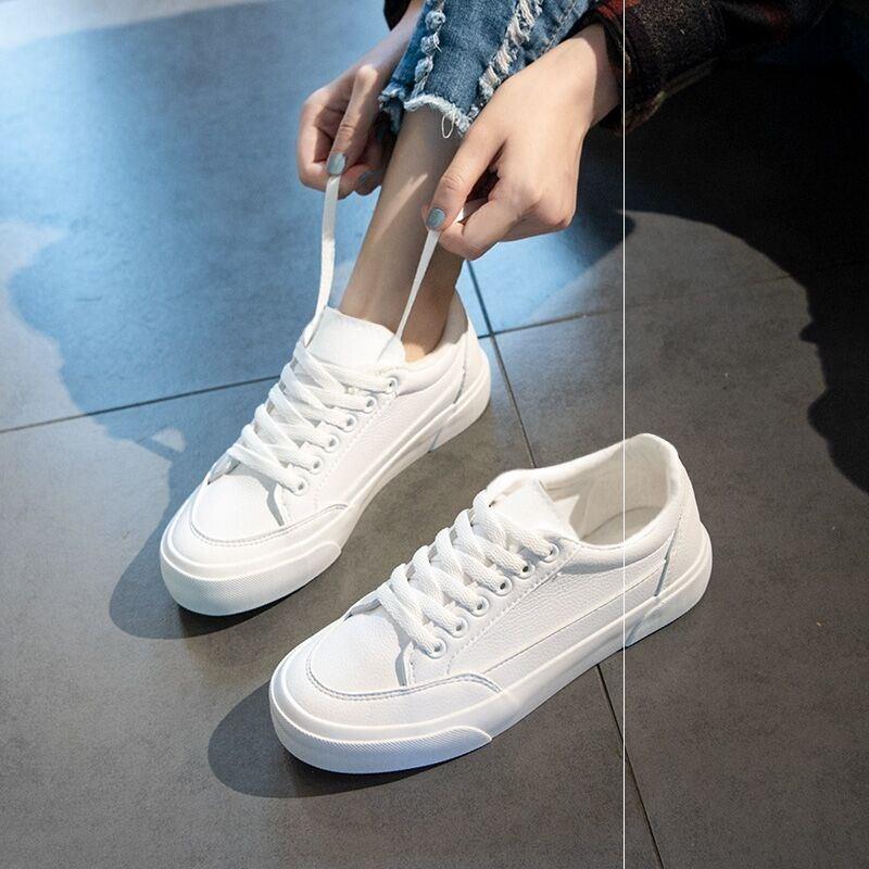 新款流行网红小白鞋女鞋子爆款百搭平底白鞋2020年夏季洋气板鞋女