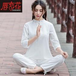居士服女佛系禅意女装棉麻禅修服女中国风套装瑜伽服夏改良汉服女