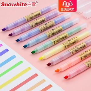 白雪10支荧光笔糖果色彩色笔标记笔