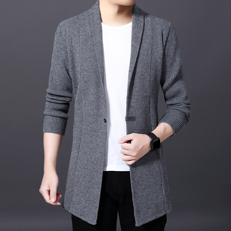 [factory direct sales] autumn and winter new mens knitted cardigan mens sweater coat sweater simple fashion goods
