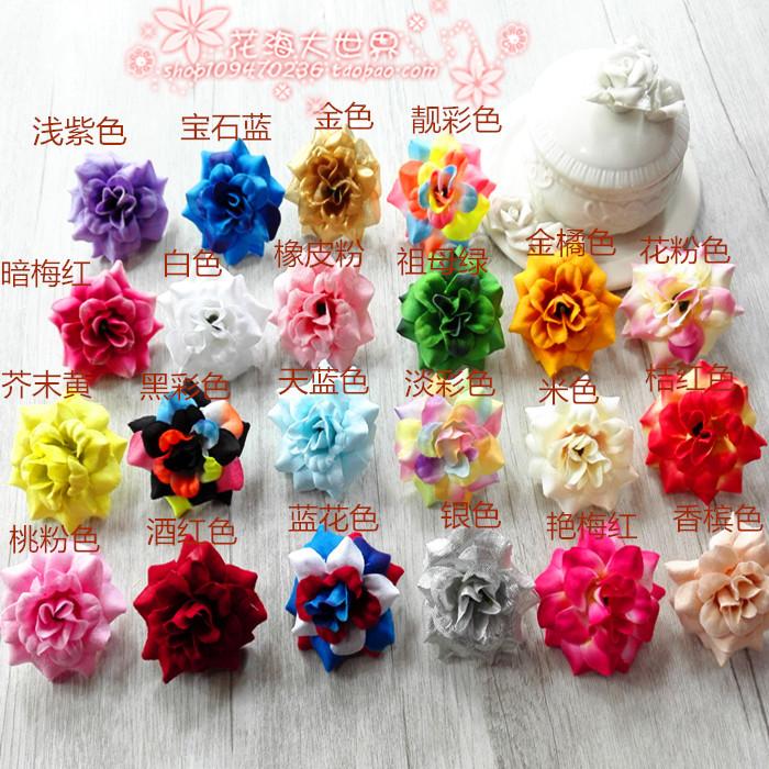 Свадьба шелк заколка цветок украшения декоративный ткань цветы моделирование бутон гирлянда материал монтаж классическая роуз 4.5cm/ цветок, бутон