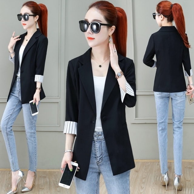 Fit spring and summer new womens fashion temperament small suit coat Korean version comfortable and careful machine 304050 years old daily