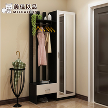 Meijia to enter the door entrance to the shoe cabinet coat cabinets modern simple with mirror foyer cabinet door closed cabinet