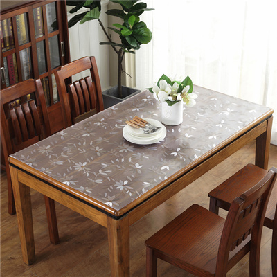 Transparent disposable soft glass crystal pad household tablecloth pvc waterproof tablecloth oil-proof and wear-resistant coffee table table mat