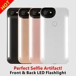 新款前后发光的手机壳 iPhone78拍照补光灯 6S Plus自拍神器LED