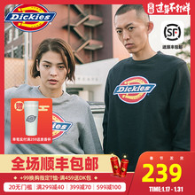 Dickies round neck sweater men's fashion brand sports long sleeve T-shirt couple top young man with warm sweater