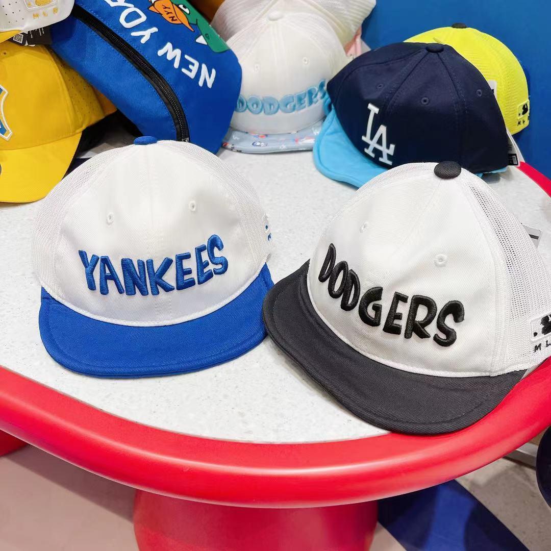 517直播MLB潮牌韩国代购夏款儿童时尚软檐网眼帽子1931