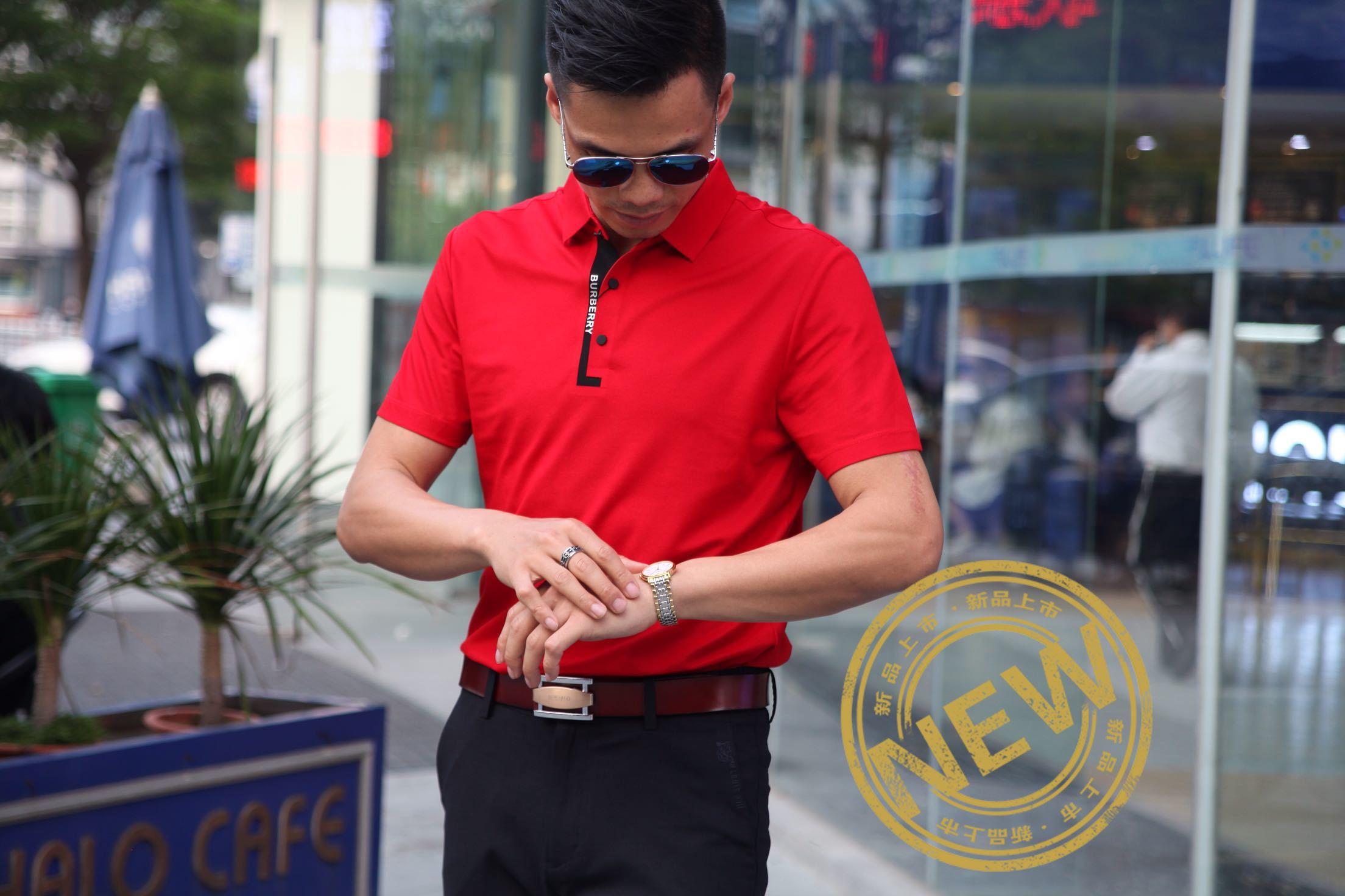夏季新款时尚都市polo衫男阳光卡洛男装轻奢商务POLO短袖T恤