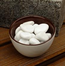 魚缸配飾 裝 橢圓石頭 鵝卵石 飾白色石子 鋪地 飾 純白色鵝卵石