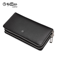 Jin Lilai Handbag Genuine Male Leather Handbag Chao Men's Large Capacity Double Zipper Multifunctional Handbag