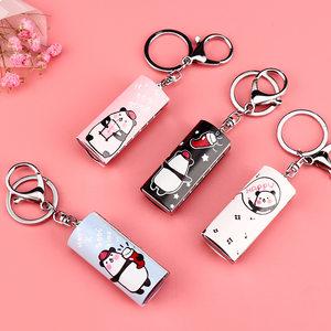 新款创意欢欢熊口琴钥匙扣汽车挂件饰品口琴造型金属锁圈现货