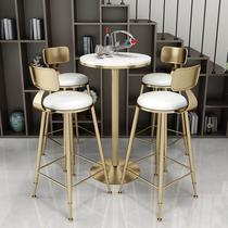 北欧简约吧台椅小圆桌椅吧椅高脚凳现代酒吧椅吧台凳吧台桌椅组合