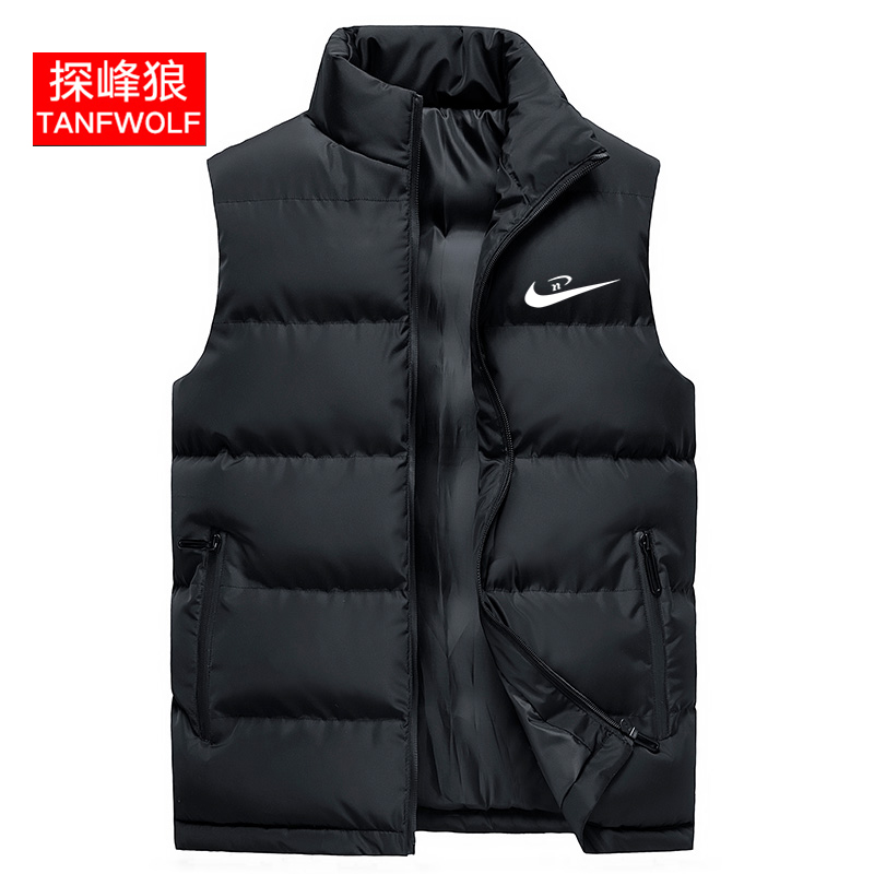Vest men's autumn and winter Korean Trend men's warm vest thickened jacket men's down cotton winter coat shoulder
