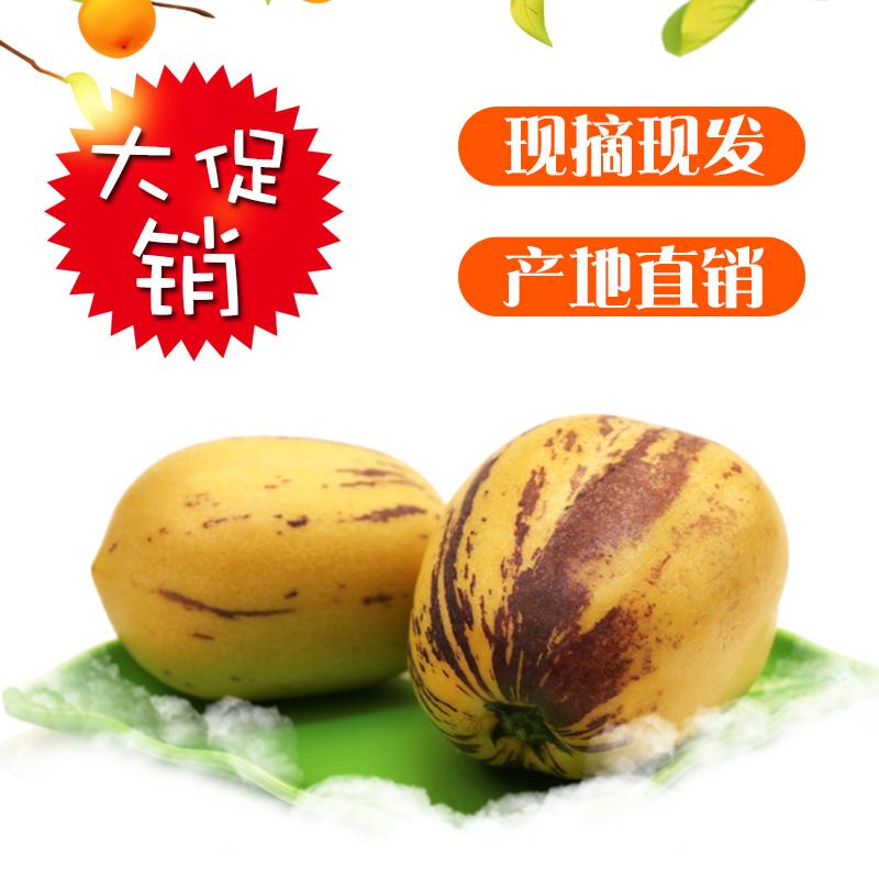 生鲜水果人生果甘肃清泉人生参果5斤现摘空运包邮多汁水果果汁