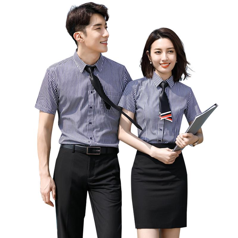 男短袖衬衫里面穿什么:女款职业装
