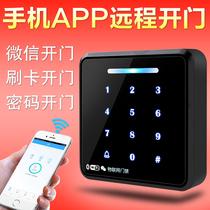 办公室玻璃门密码锁双门免开孔智能刷卡密码锁单双开门禁锁ZUCON