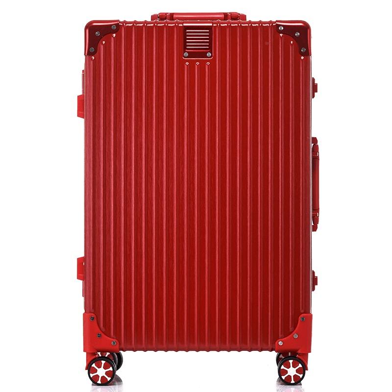 ELLE20寸铝框旅行箱17寸商务小行李箱万向轮拉杆箱29寸大密码箱