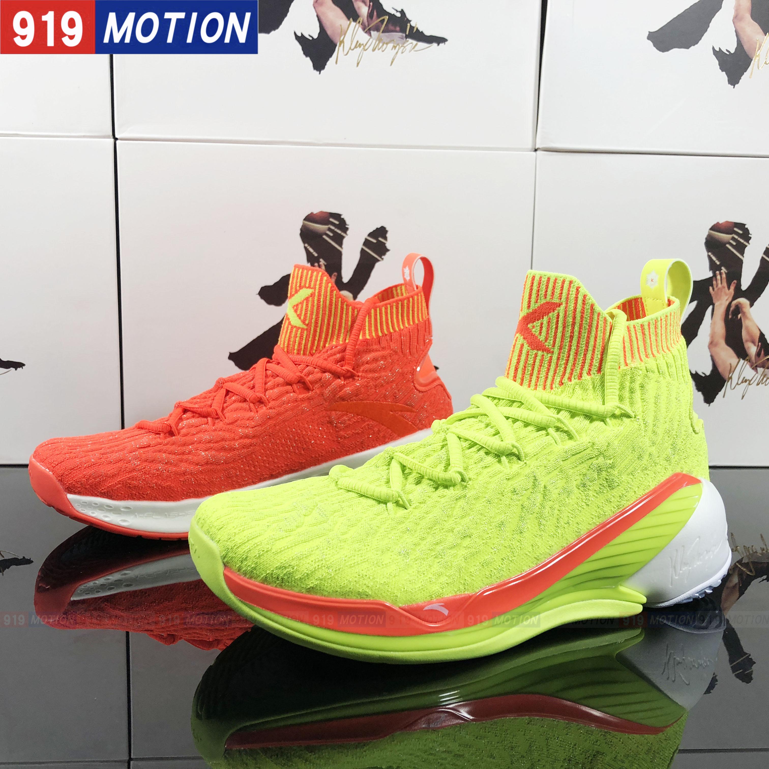 安踏篮球鞋新款2018KT4汤普森四代圣诞鸳鸯男子高帮战靴11911101