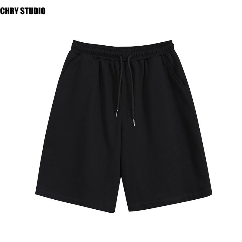 夏季宽松直筒针织运动薄款休闲篮球裤韩版潮流百搭男士五分短裤子