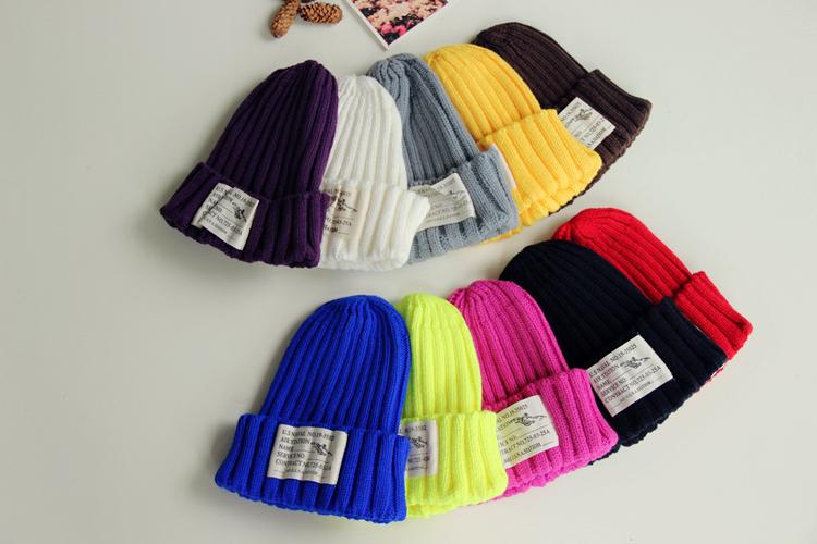 Корея детей конфеты цветные девочек вязаные шерстяные шляпы выявили Cap милые мальчики дикие теплые шляпы