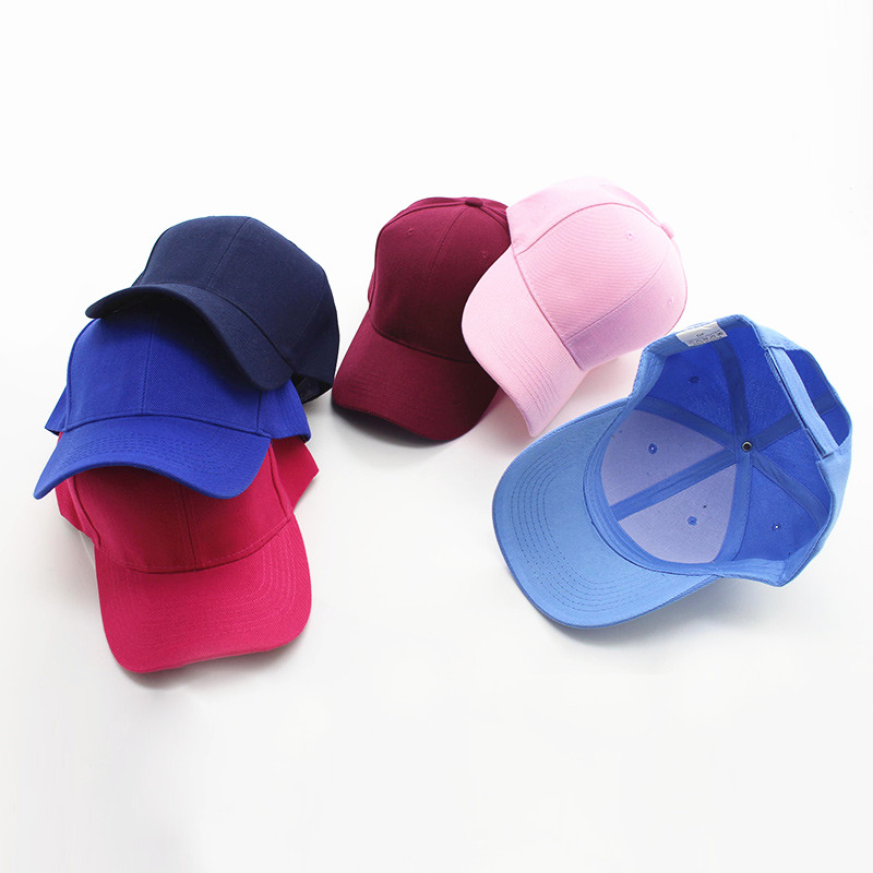 蓝色帽子女韩版街头潮人夏季粉色鸭舌帽男韩国可爱粉酒红色纯色