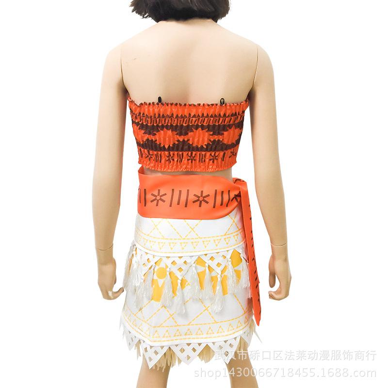 海洋奇缘cos莫阿娜莫亚娜cosplay毛伊儿童小孩衣服公主cos服装