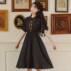 2021年新款学院风连衣裙女夏天小清新收腰显瘦学生日系温柔风裙子