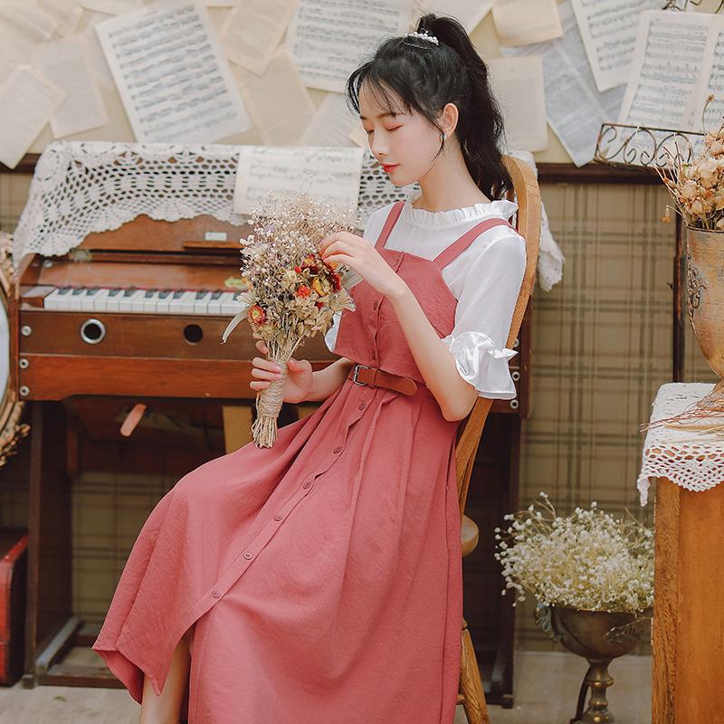 裙子仙女超仙森系甜美连衣裙2019流行新款夏天吊带裙女学生小清新