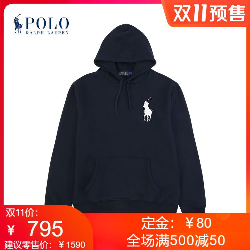 【预售】Ralph Lauren/拉夫劳伦男装 经典款大马标连帽衫12381