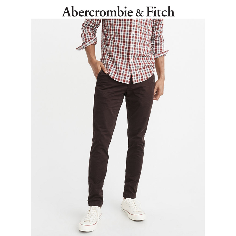 Winter Special Offer Abercrombie & Fitch men's tight-fitting khaki pants 165799 AF