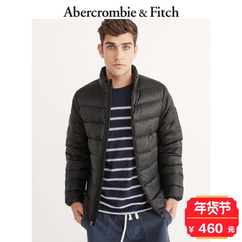 季末特惠 Abercrombie&Fitch 男装 收纳式轻便羽绒夹克166308 AF