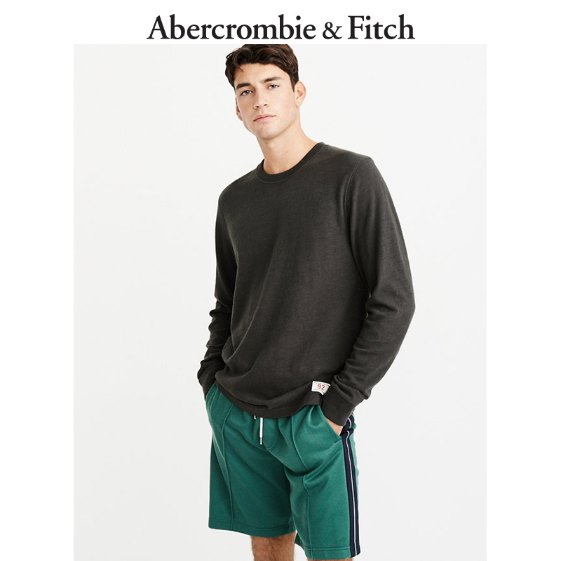 Abercrombie&Fitch男装 长袖圆领 T 恤 224378-1 AF