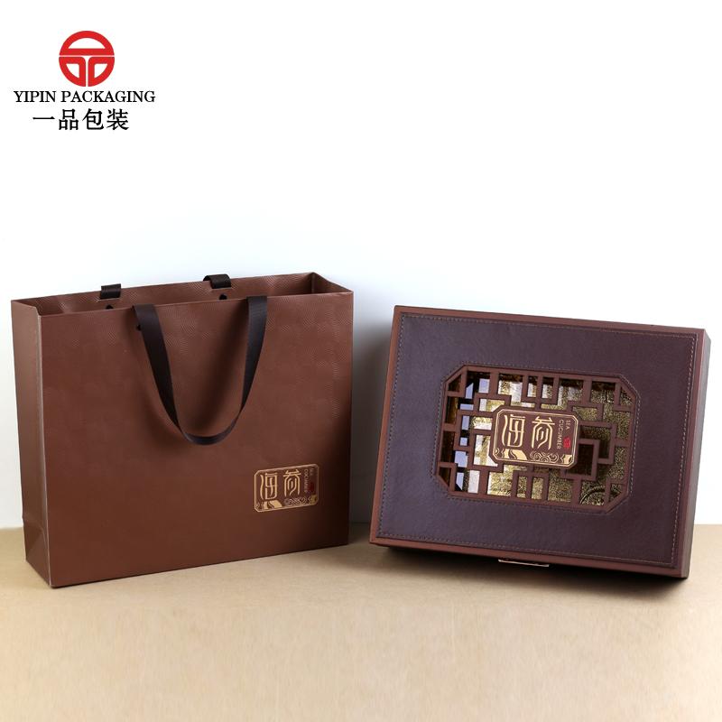 海参包装盒高档礼品盒可定制海参花窗皮盒半斤一斤装海参盒子礼盒12-02新券