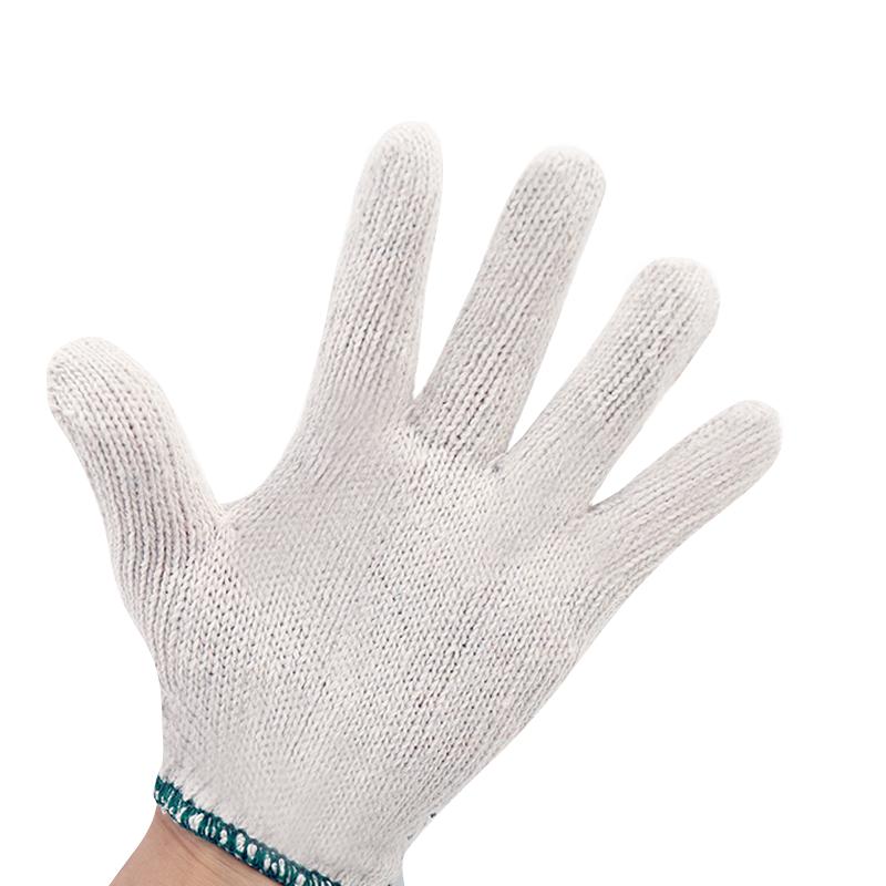 劳保工作男士尼龙防滑白棉纱手套