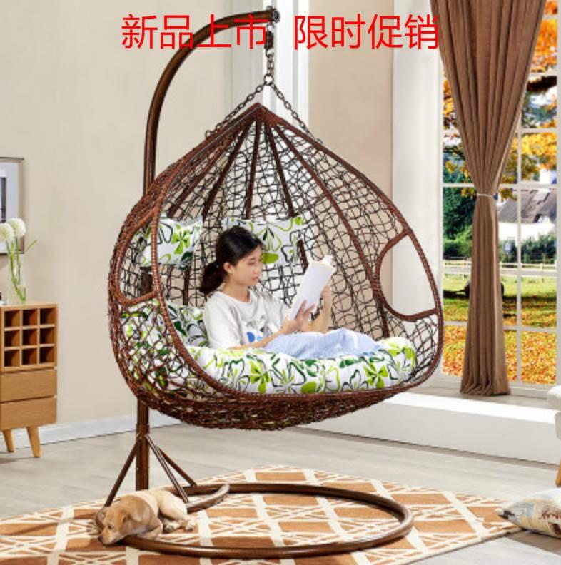 防滑摇篮居家网红藤条圆形吊篮椅(非品牌)