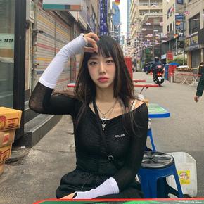 韩国定制CRANK一字领性感露肩小清新吊带T恤女褶皱上衣套装20新款