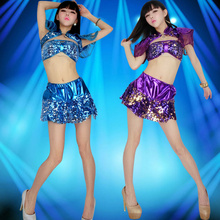 New Sexy Jazz Suit Female 2017 Korean Version Modern Belly Dance Costume Campus Stage Costume