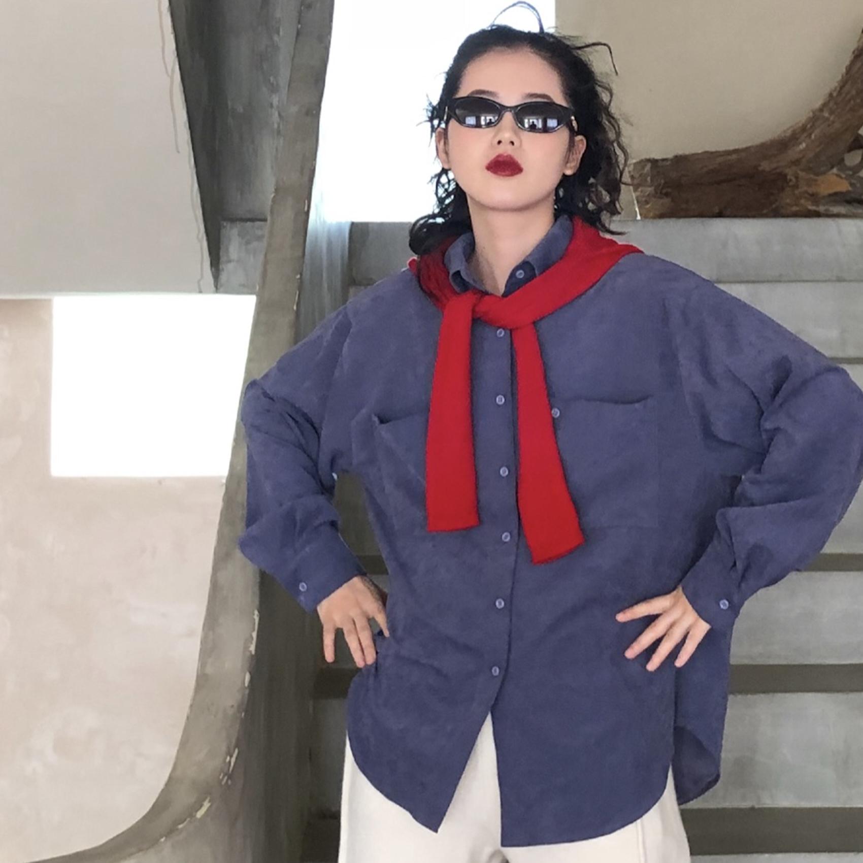12月02日最新优惠cmmmlll 设计感小众衬衫2019秋季新款女法式复古港味小众长袖上衣