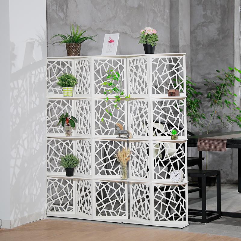 简约现代屏风隔断客厅卧室移动雕花双面办公室美容院小户型折屏