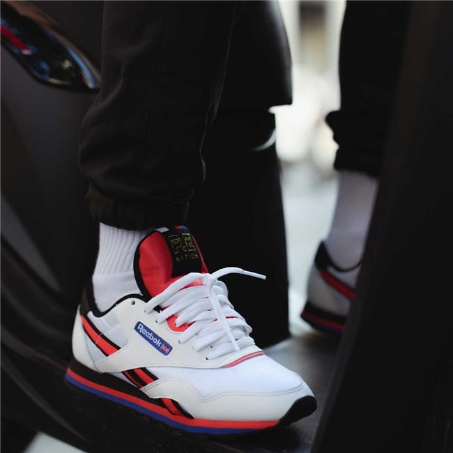 美国正品代购Reebok pe联名款女士撞色拼接经典皮革休闲女运动鞋
