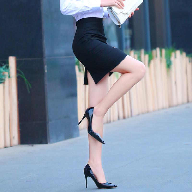 2018春夏季新款职业裙女半身一步裙包臀裙黑色西装裙正装工作裙子