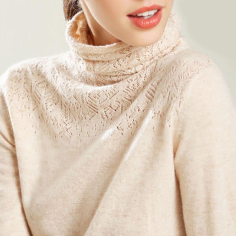 镂空女针织衫韩版长袖正品毛衣打底衫