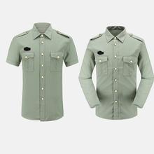夏常服短袖 松枝綠襯衫 新式 金屬扣 男女款 內外襯衣橄欖綠長袖 正品