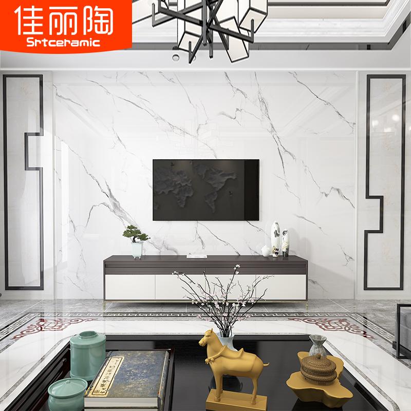 简约现代客厅电视背景墙微晶石瓷砖大气造型墙砖装饰大理石边框12-03新券
