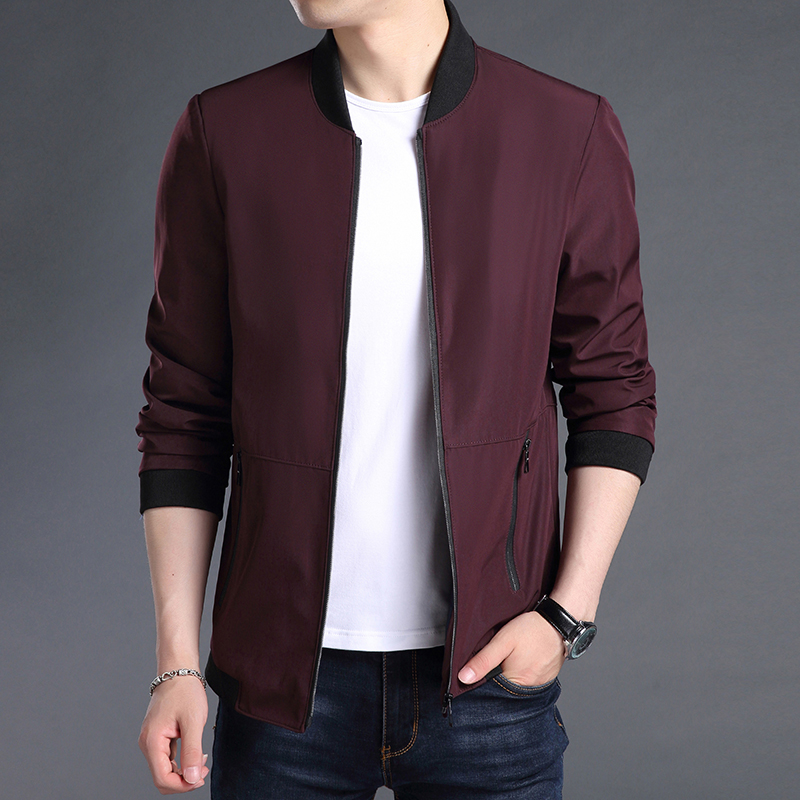 Woodpecker 2021 autumn thin middle-aged and young mens jacket popular low-cost off-season promotion solid color jacket